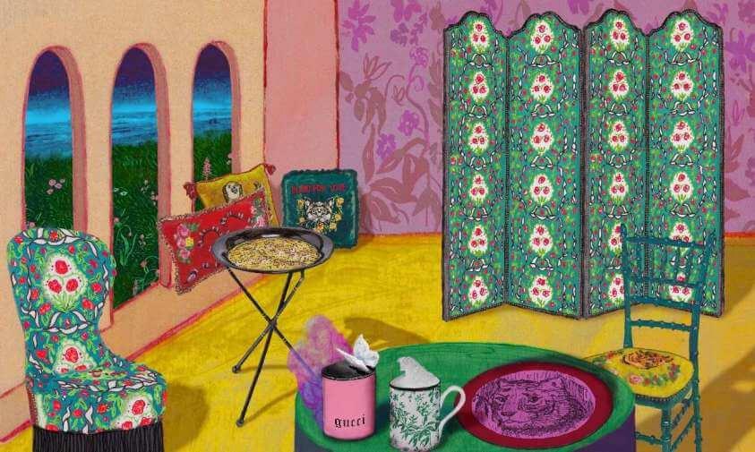 gucci Gucci Décor: la collezione design per la casa collezione gucci decor