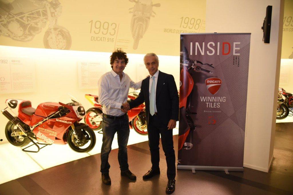 ducati Ducati e GS Luxury Group insieme per innovativi pavimenti in ceramica da sx alessandro cicognani giuseppe pozzi 1 1024x683