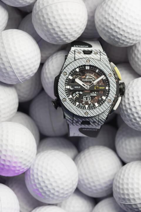 hublotgolf hublot Hublot presenta il primo orologio meccanico da golf a finestrelle l big bang unico golf 2 2