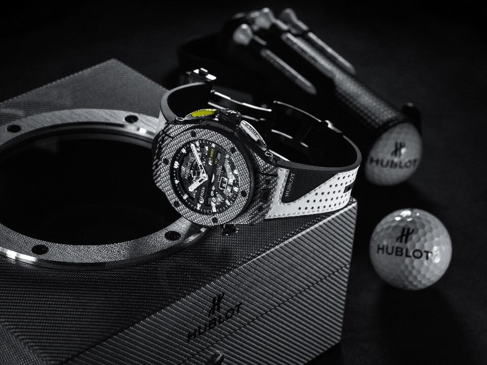 hublotcassa hublot Hublot presenta il primo orologio meccanico da golf a finestrelle l big bang unico golf 4 1