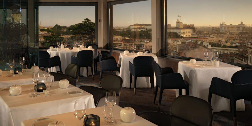 guidamichelinlaterrazzaroma guida michelin Guida Michelin 2018: i nuovi ristoranti stellati di Roma Hotel Eden Rome 0013 Hotel Eden Roma La Terrazza