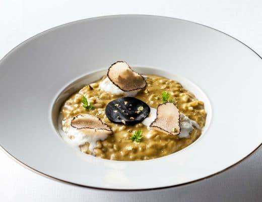 guida michelin Guida Michelin 2018: i nuovi ristoranti stellati di Roma hotel eden la terrazza risotto truffle 1 520x400