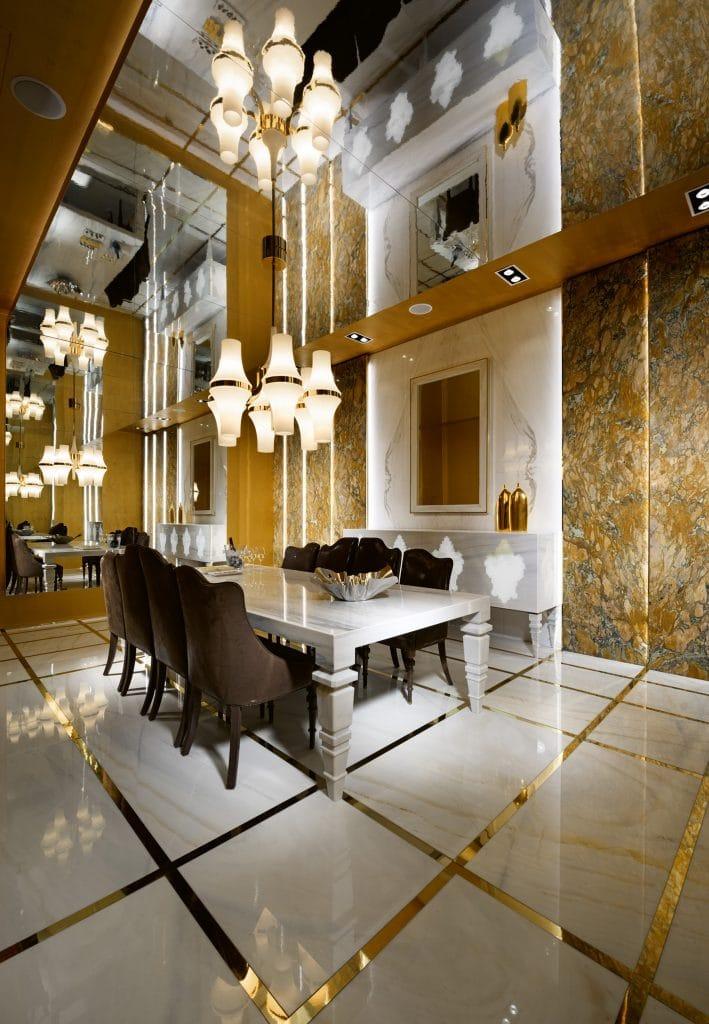 saladapranzo1 sala da pranzo Sala da pranzo: eleganza multicolor per un ambiente raffinato sala da pranzo 3 709x1024