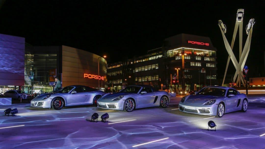 porsche Porsche: 70 anni di auto sportive high 911 targa 4 gts 718 boxster s 718 cayman new year reception porsche museum 2018 porsche ag 1080x608
