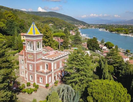 Villa dell'Angelo: il fascino della storia, l'incanto dell'arte DJI 0483 520x400