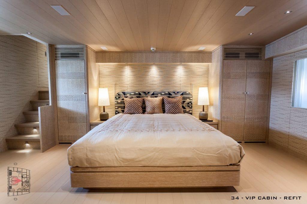"""refitting """"Refitting"""": l'arte di dare nuova vita a uno yacht 34 a2 vip cabin refit view 2 1024x683"""