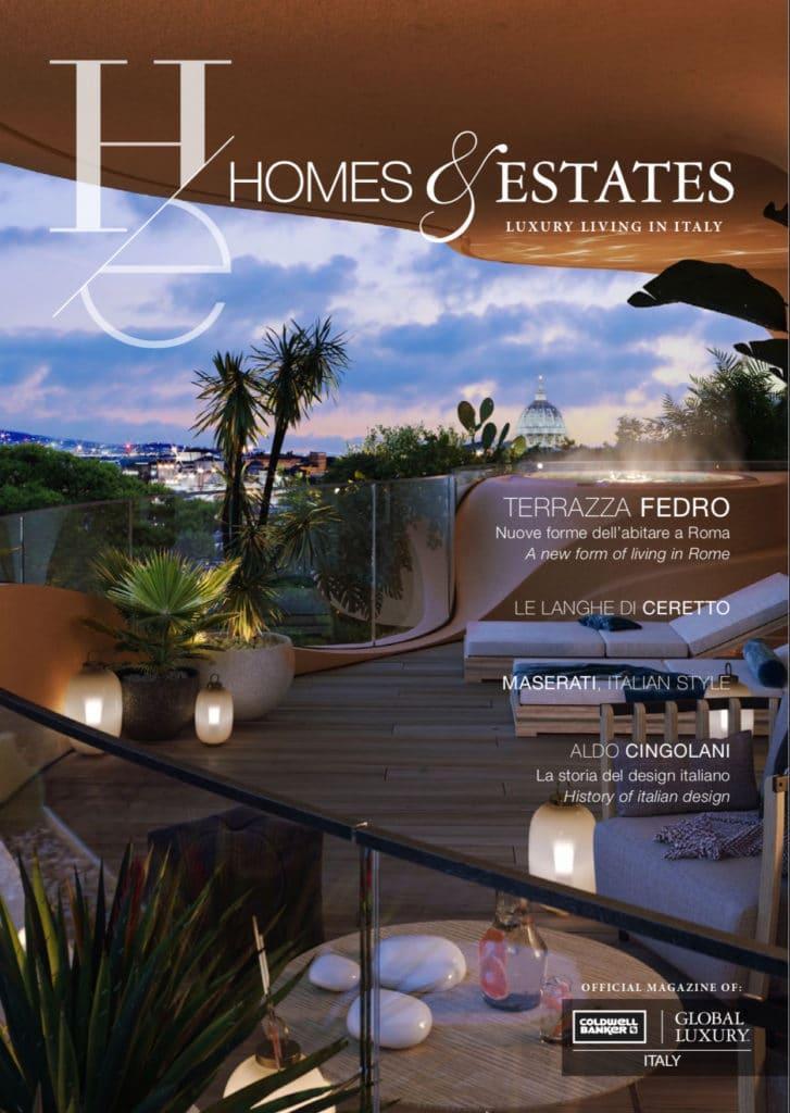 """homes & estates magazine luxury """"Homes & Estates Italy"""": il primo numero è online cover HE 1 727x1024"""